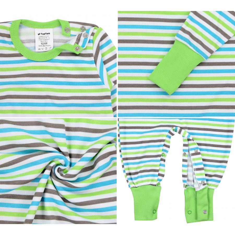 TupTam Baby Jungen Schlafstrampler Gemustert 2er Pack