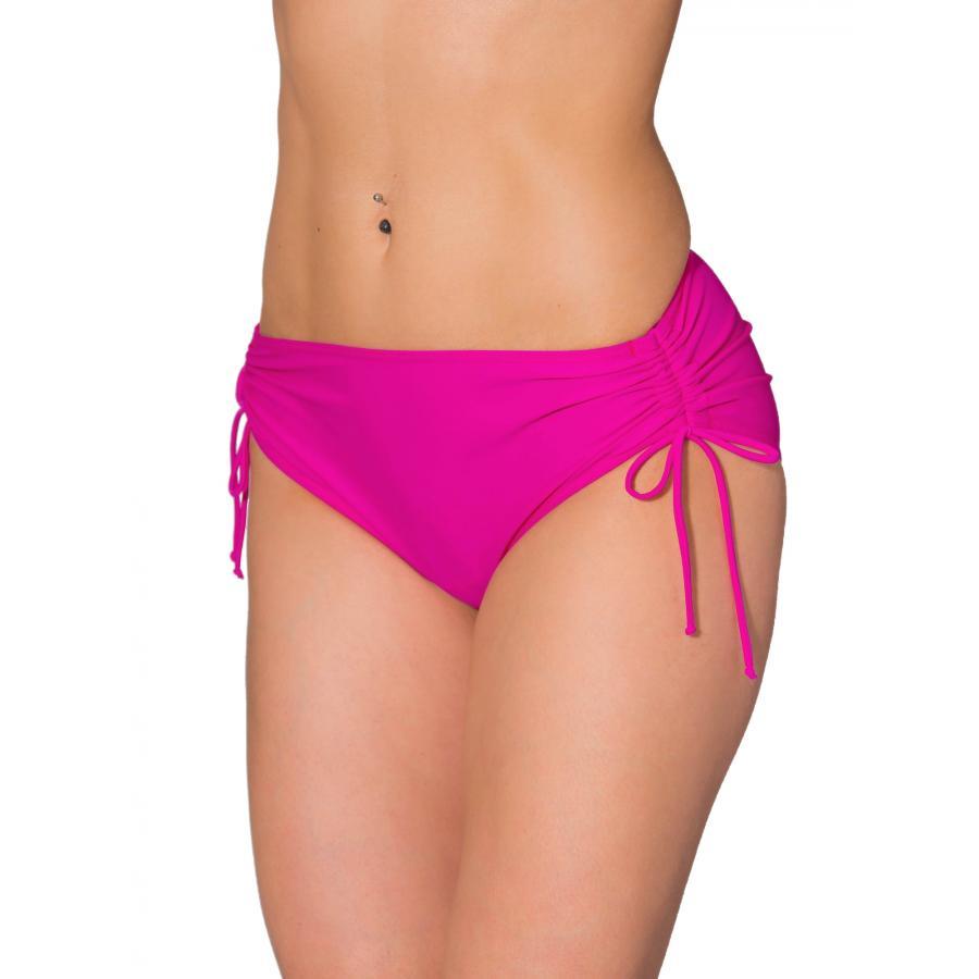 Aquarti Damen Bikinihose mit seitlichen Raffungen