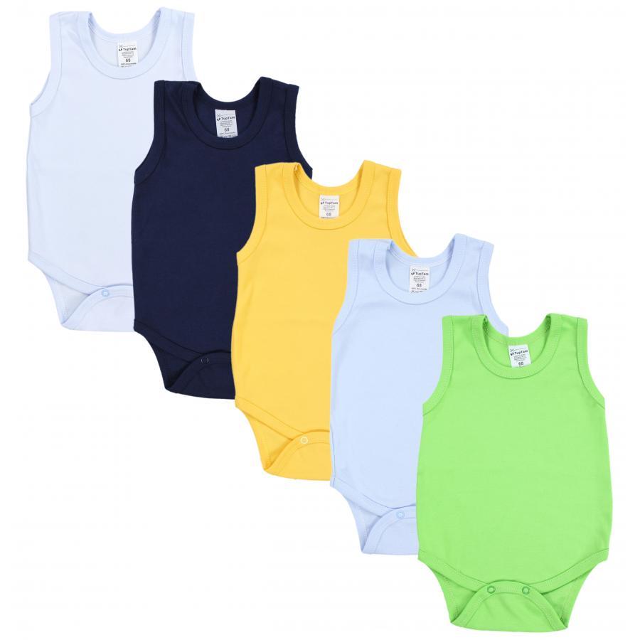 TupTam M/ädchen Baby Body Kurzarm in Unifarben 5er Pack