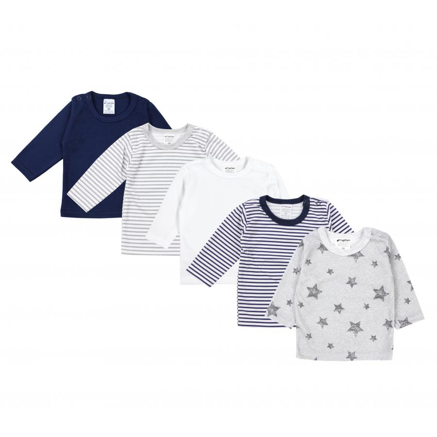 TupTam Baby M/ädchen Langarmshirt Sterne 5er Pack
