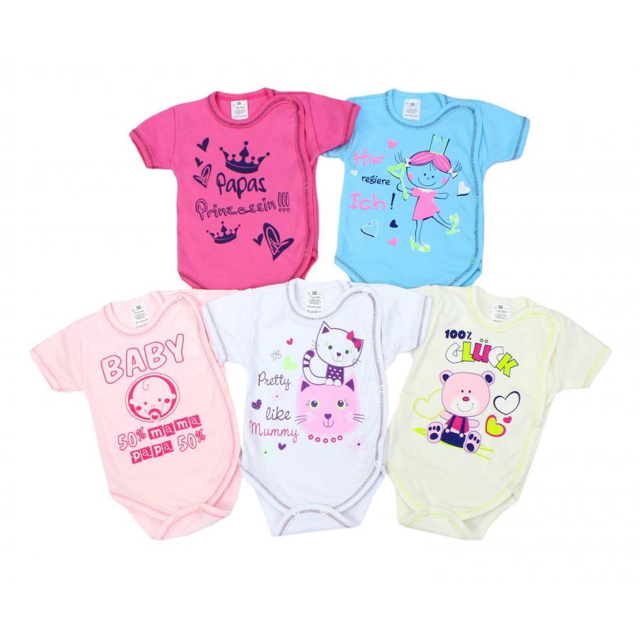 Baby Body mit Aufdruck Kurzarm-Body Mädchen Babybody Junge 100/% Baumwolle
