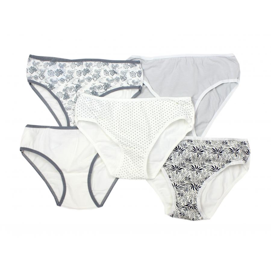 63d131588f0f13 ... 5er Pack Unterhosen Damen Slips mit Spitze Blumenmuster Damenslips  Baumwolle ...