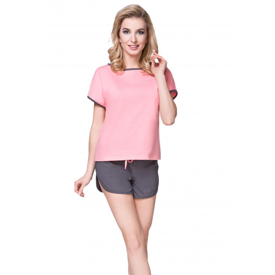 f5c3f1fe85c44e Damen Pyjama Set Top Shorts Schlafanzug Shorty Nachtwäsche Kurz 100%  Baumwolle