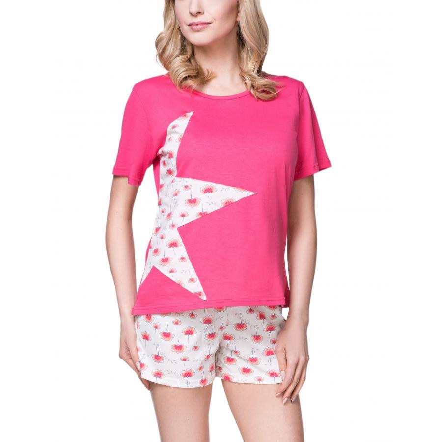 996808f7f319f1 ... Damen Pyjama Set Shirt Shorts Schlafanzug Shorty Nachtwäsche 100%  Baumwolle ...